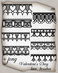 Valentine's Day lace brushes