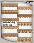 Valentine's day paper border