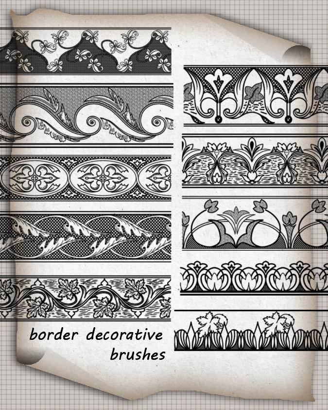 Border Brushes Decorative