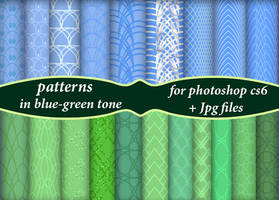 Patterns In Blue-green Tone by roula33