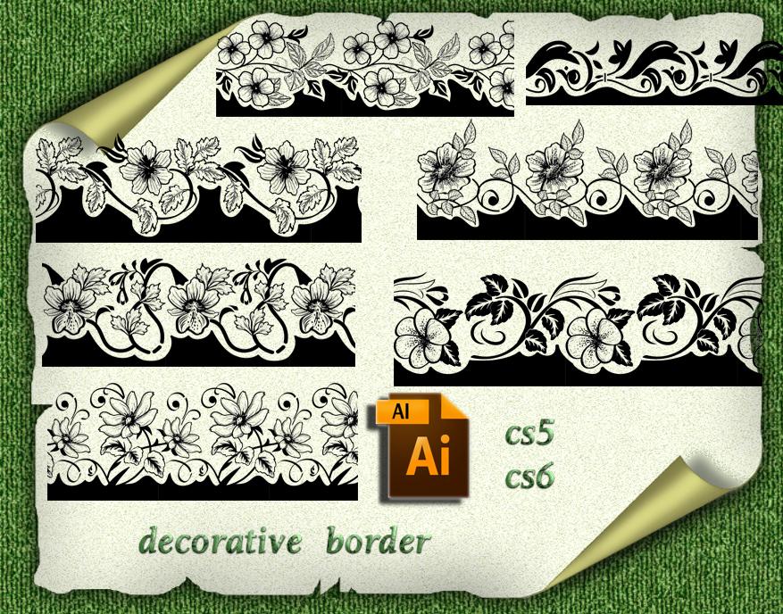 Ai  decorative border