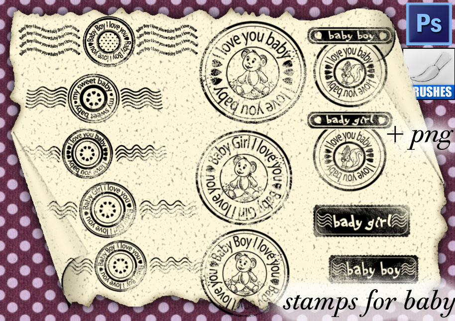 Stamps For Baby by roula33