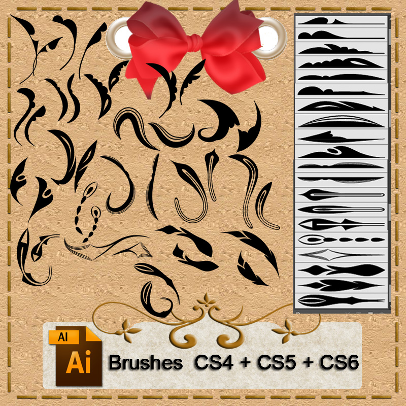 Illustrator brushes by roula33