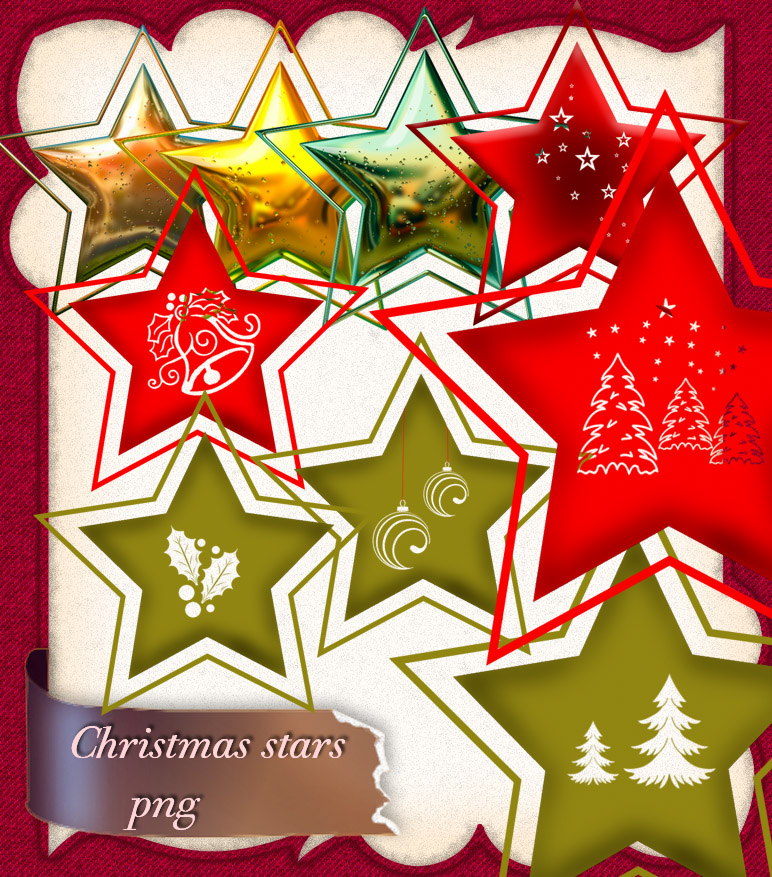 Christmas stars PNG by roula33