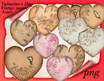 Valentine's Day Vintage papers hearts