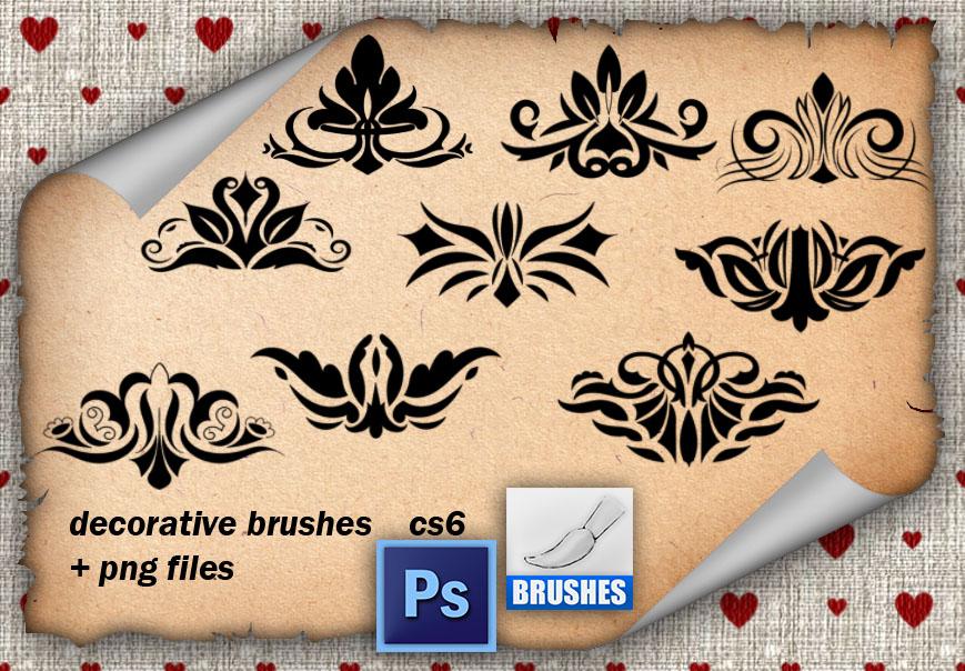 Decorative Brushes 9 by roula33