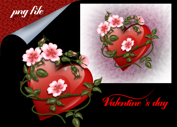 heart rose Valentine by roula33