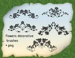 Flowers Decorative Brushes