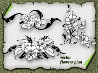 Vector Flower Plan