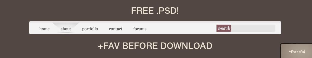 FREE PSD? - Modern.Nav +Razz94 by Razz94
