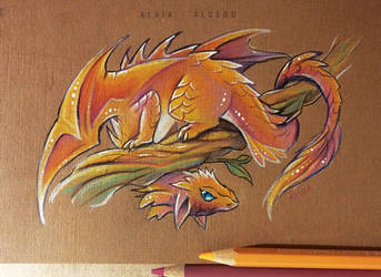 Playful dragon by AlviaAlcedo
