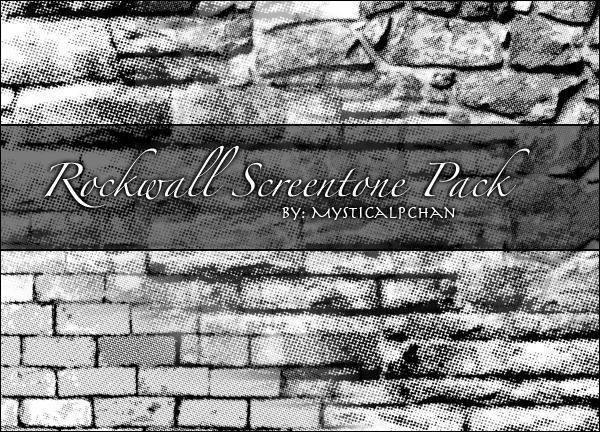 Rockwall Screentone Pack by Mysticalpchan