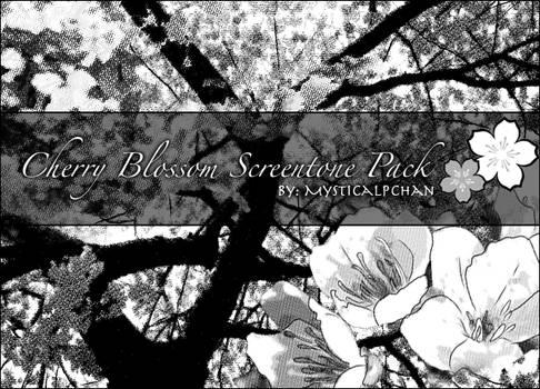 Cherry Blossom Screentone Pack