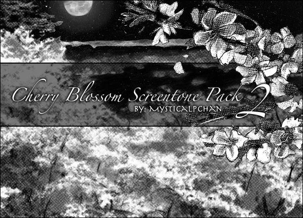 Cherry Blossom Screentone 2 by Mysticalpchan