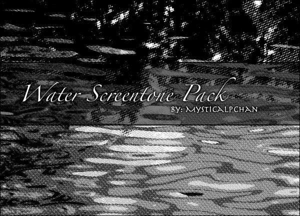 Water Screentone Pack by Mysticalpchan