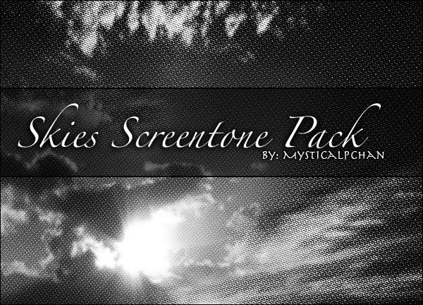 Skies Screentone Pack by Mysticalpchan