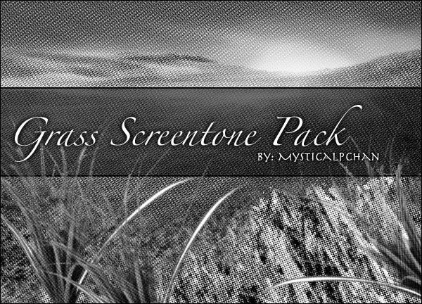 Grass Screentone Pack by Mysticalpchan