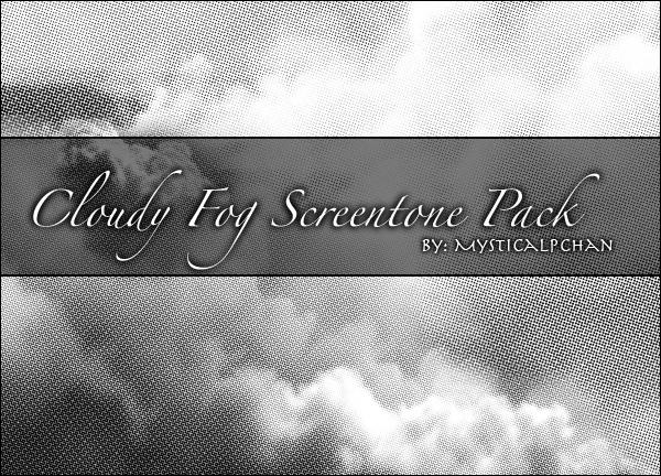 Cloudy Fog Screentone Pack by Mysticalpchan
