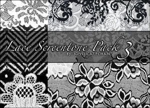 Lace Screentone Pack 3