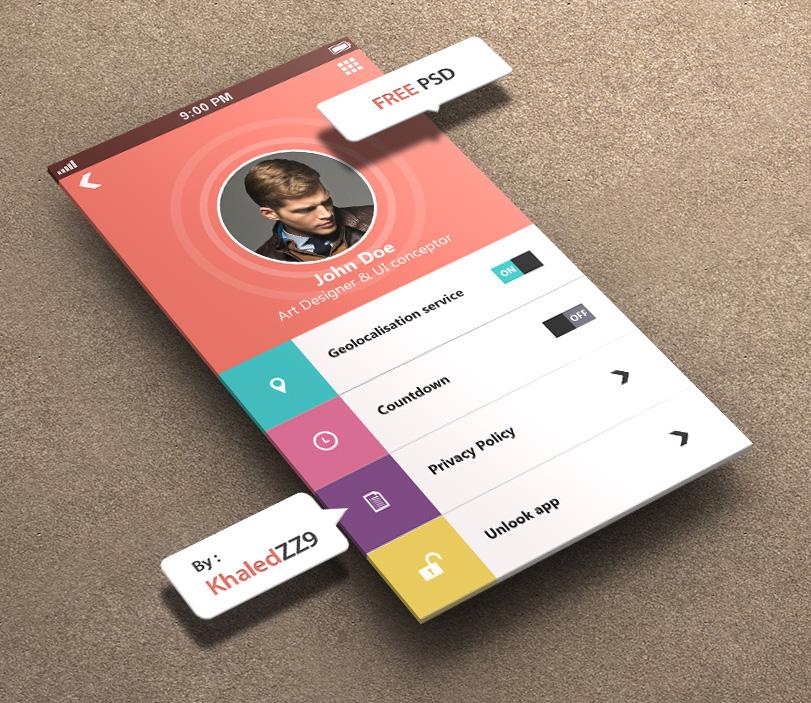 Profile Settings for iPhone 5 Retina Ready - FREE by khaledzz9