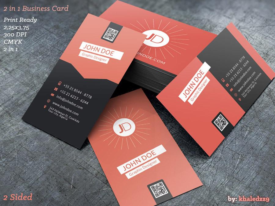 2 in 1 Business Card by khaledzz9