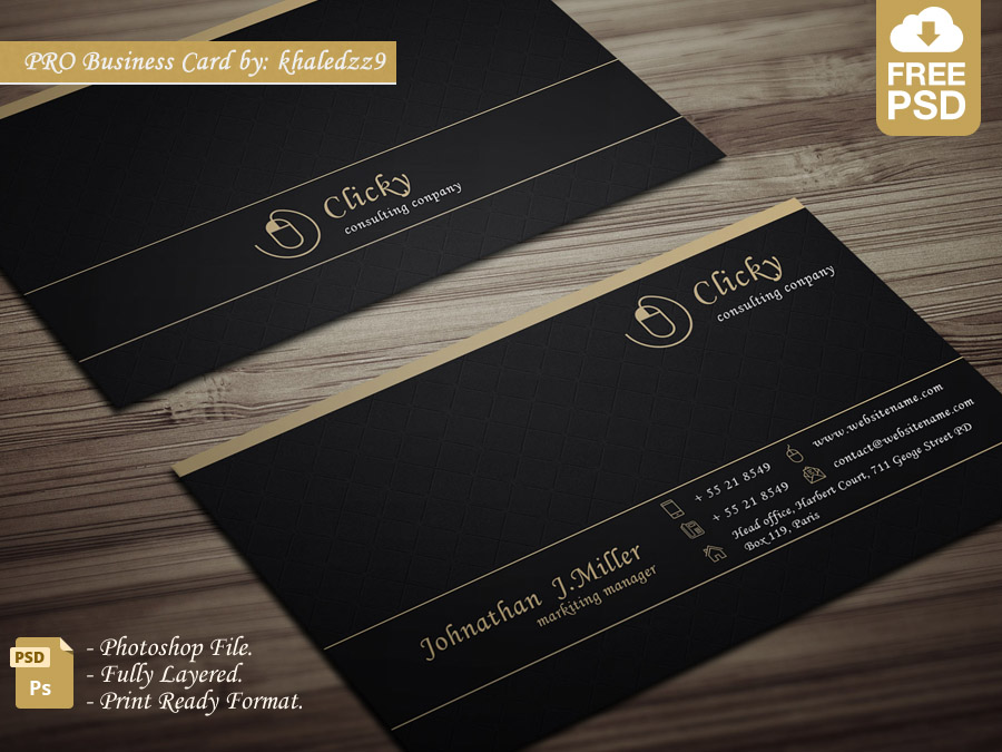PRO Business Card by khaledzz9 on DeviantArt