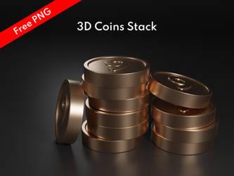 3D Coins Stack by khaledzz9