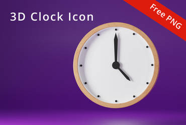 3D Wall Clock Icon by khaledzz9
