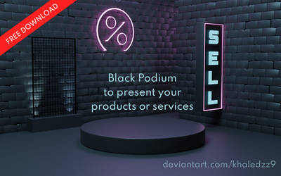 Black Podium - Free Download by khaledzz9