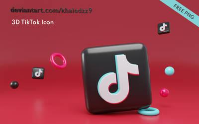 3D TikTok Icon PNG by khaledzz9