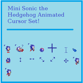 Sonic Mouse Cursors Related Keywords & Suggestions - Sonic Mouse