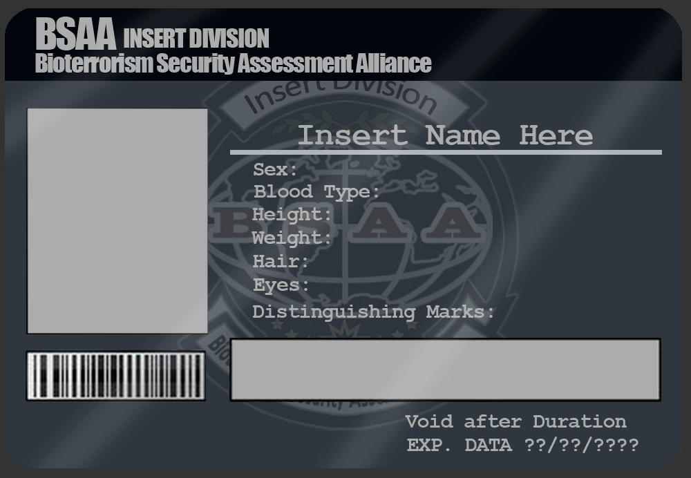 Bsaa Deviantart Template By Id Card On Mangapip