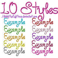 + 10 Styles by NiickiithaEditions