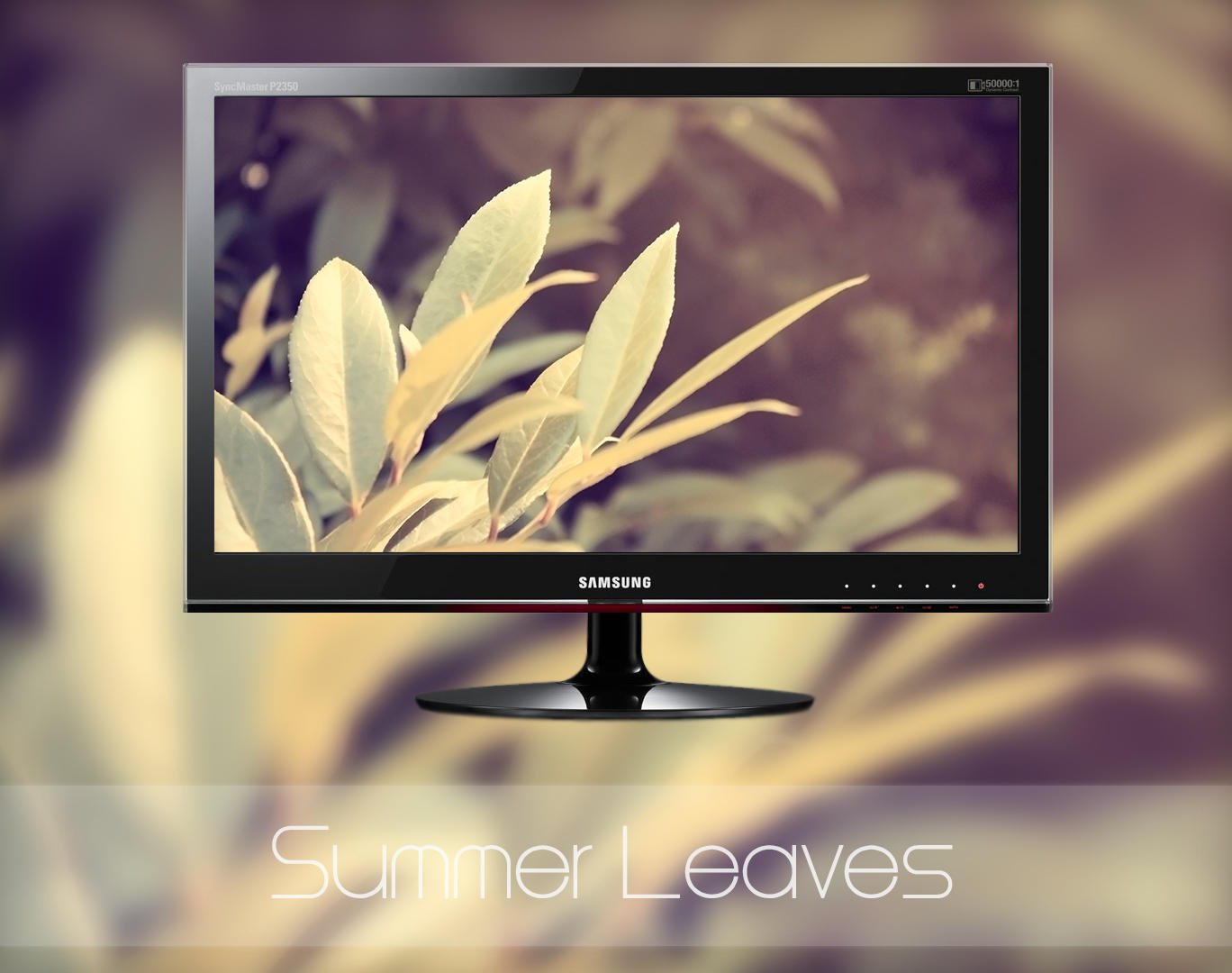 Summer Leaves by MGWallpaper