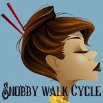 The Snobby Shopper Walk Cycle Homework by Asher-Bee