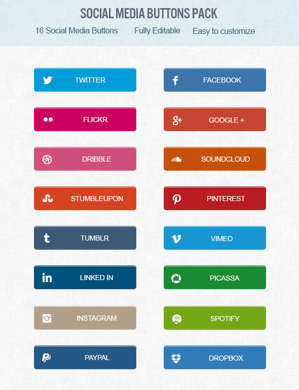 FREE Social Media Buttons by dant3x