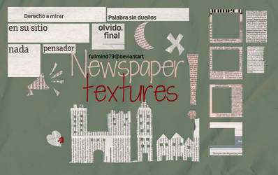 Textures 37: newspaper by fullmind79