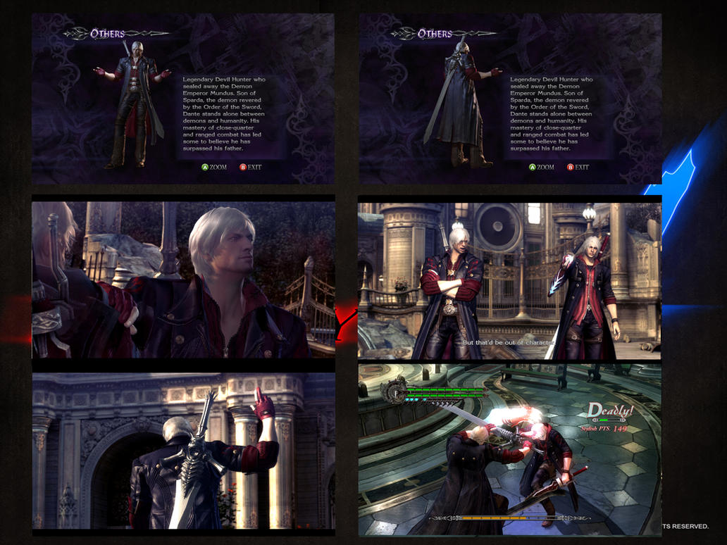 DMC4 Dante with Nero's color costume by monkeygigabuster