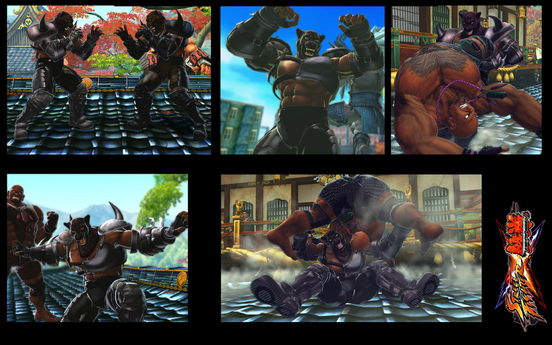 SF X TEKKEN King as Armor King inspiration by monkeygigabuster