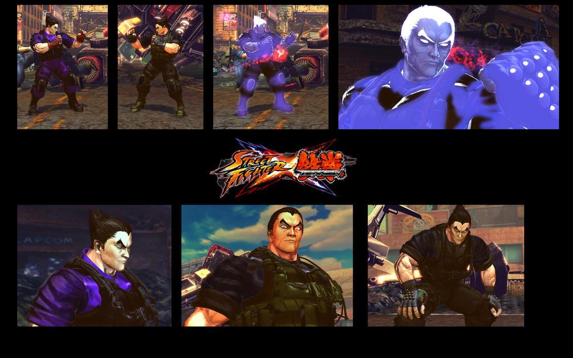 SF X TEKKEN Commando Kazuya from Tekken 6 by monkeygigabuster