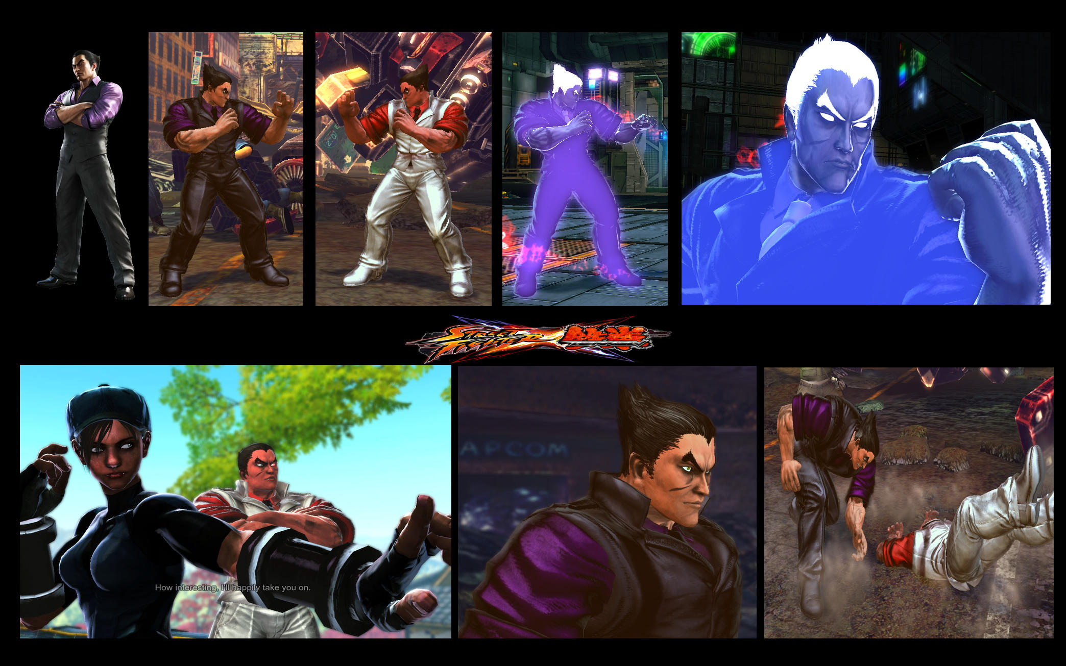 SF X TEKKEN CEO Kazuya from Blood Vengeance v 1.5 by monkeygigabuster