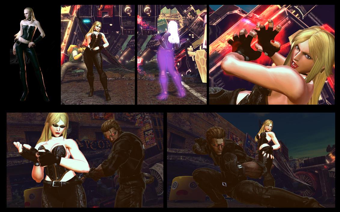 SF X TEKKEN Nina as Trish from DMC 4 by monkeygigabuster