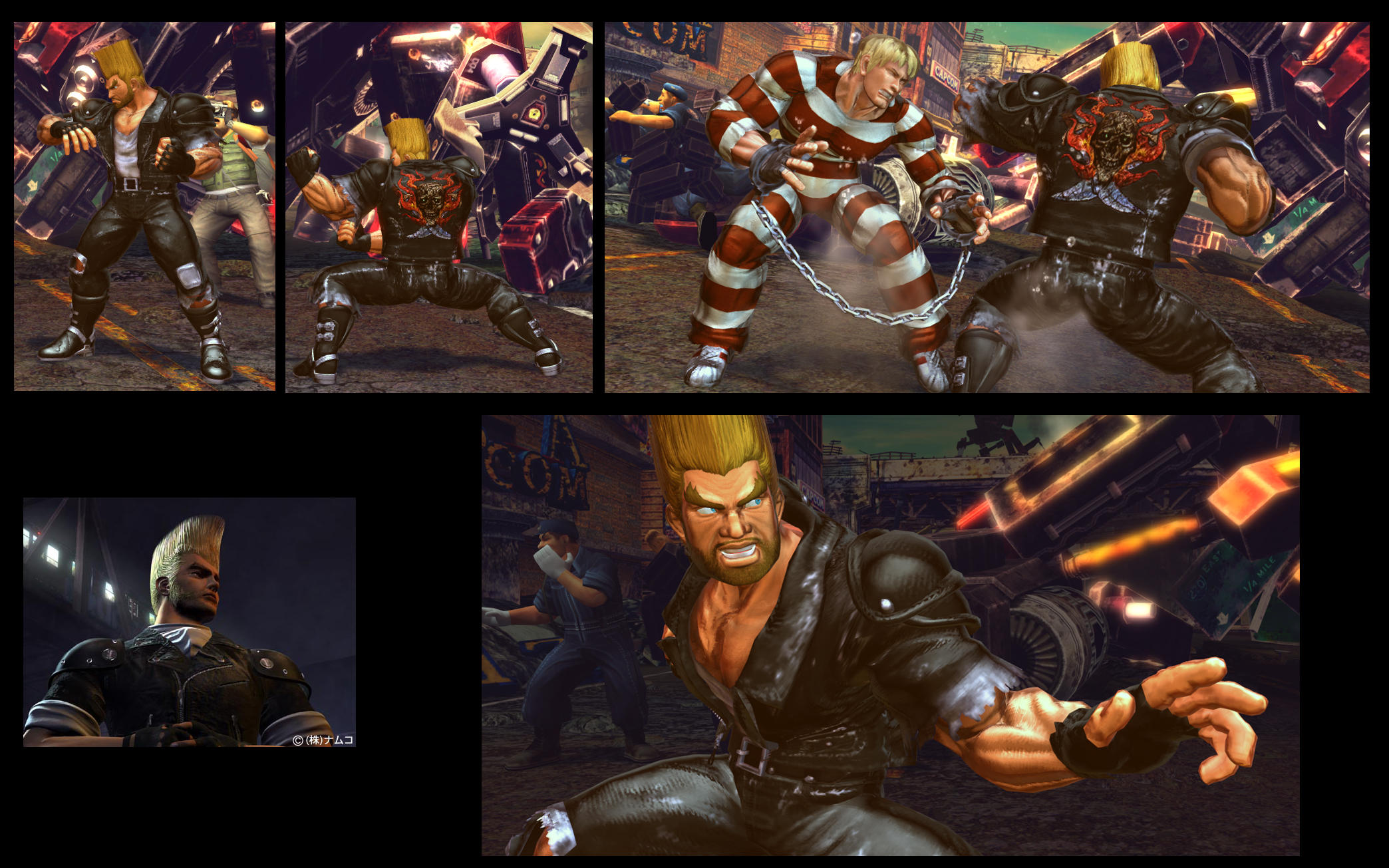 SF X TEKKEN Biker Paul from Tekken 3 by monkeygigabuster