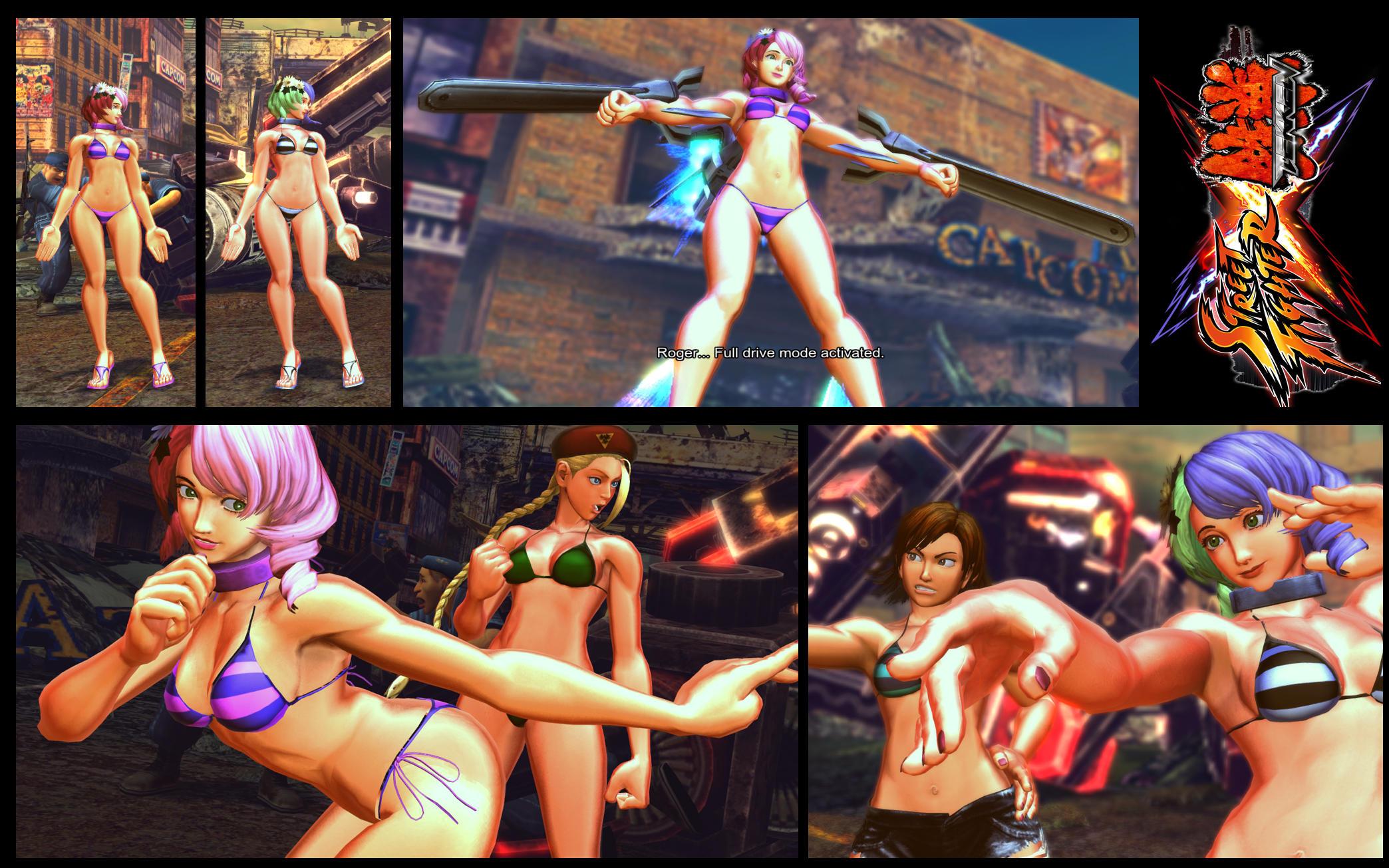 SF X TEKKEN Bikini Alisa by monkeygigabuster