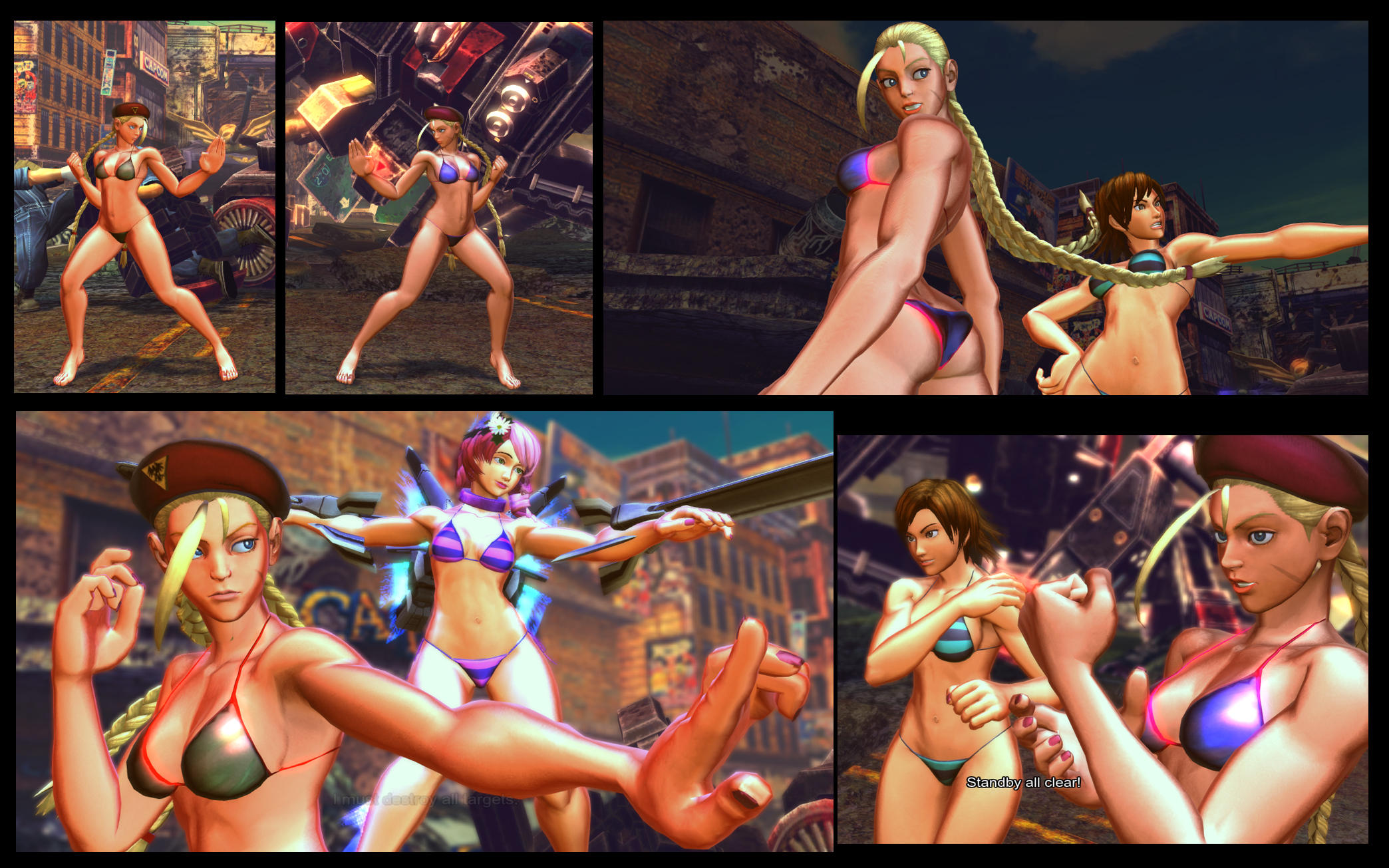 SF X TEKKEN bikini Cammy by monkeygigabuster