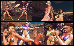 SF X TEKKEN bikini Cammy by monkeygigabuster