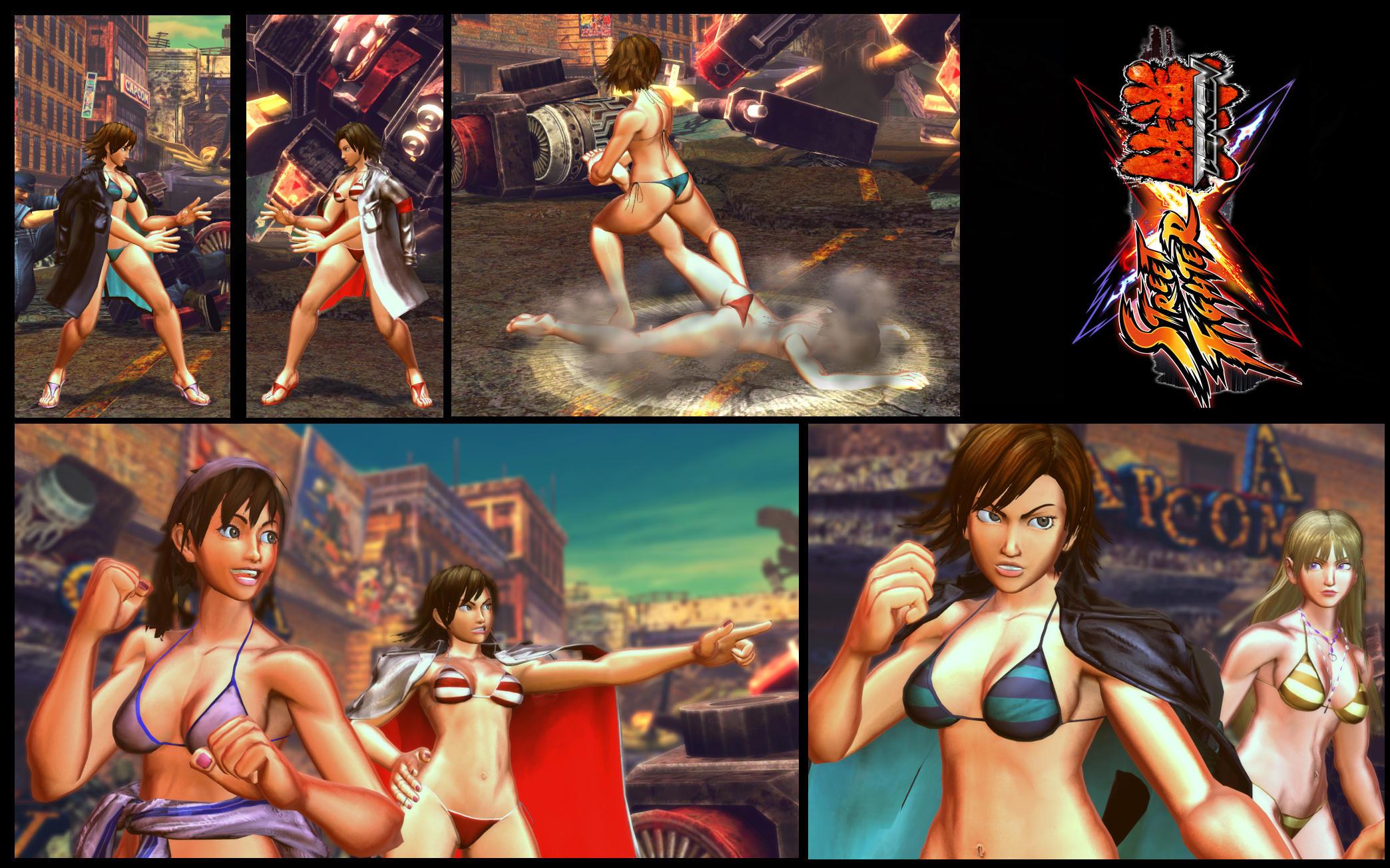 SF X TEKKEN bikini Asuka by monkeygigabuster