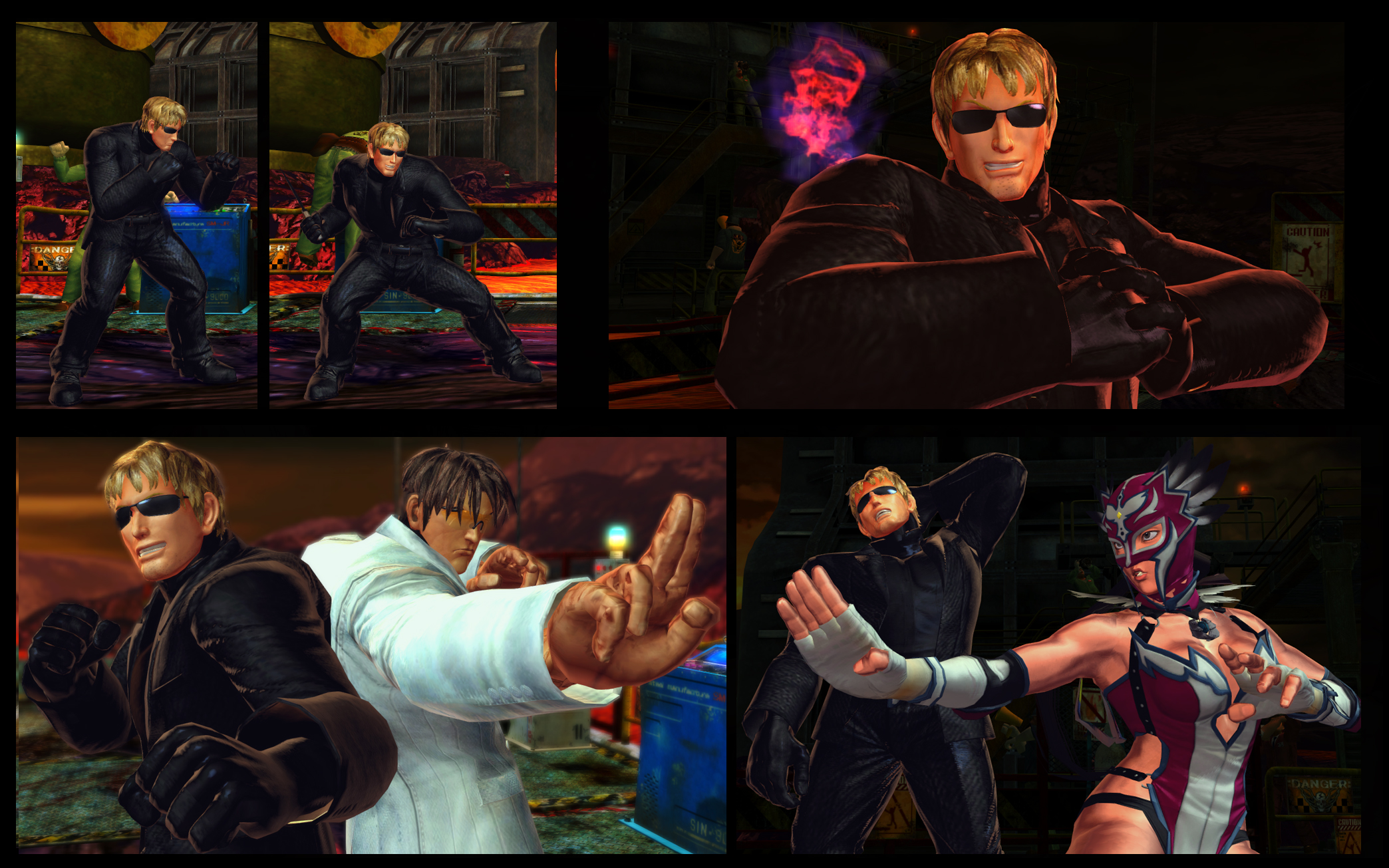 SF X TEKKEN Cody as Albert  Wesker from RE 4 by monkeygigabuster