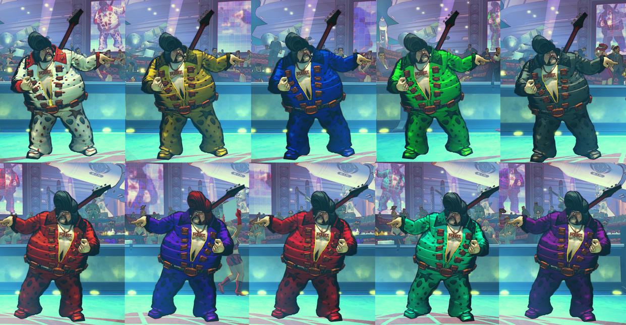 USFIV Rufus Fat Elvis 10 color pack by monkeygigabuster