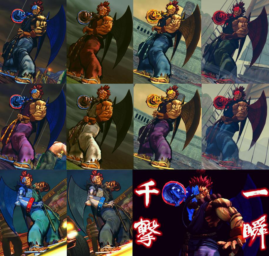 USFIV Cyber Akuma 10 color pack by monkeygigabuster